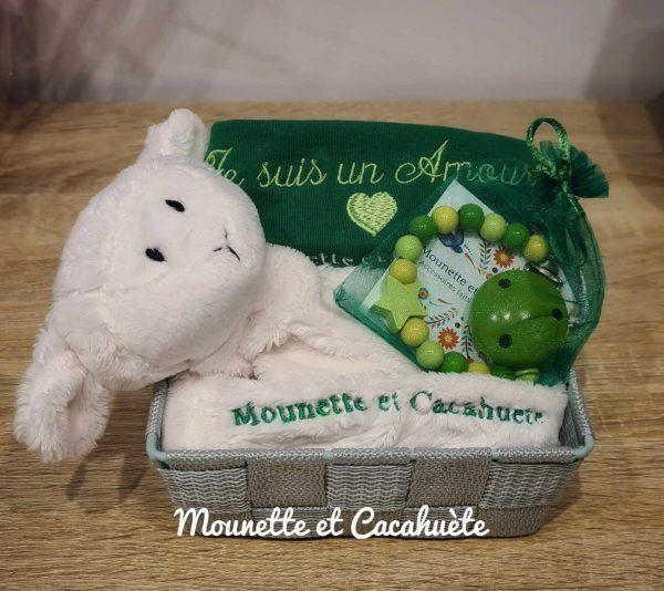 Panier d'Amour blanc/vert